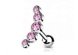 Piercing Helix cascade rose