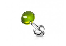 Piercing cartilage zircon vert