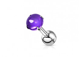 Piercing cartilage zircon violet