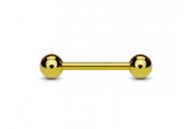 Piercing indus acier anodisé doré