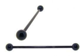 Piercing indus acier anodisé noir