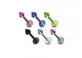 Piercing labret micro spike