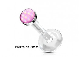 labret Madonna epoxy rose 3mm