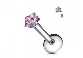 Piercing Labret Etoile-rose