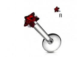 Piercing Labret Etoile-rouge