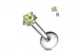 Piercing Labret Etoile-vert
