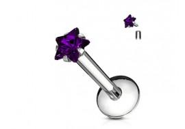 Piercing Labret Etoile-violet