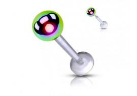 Piercing labret acrylique bille essence