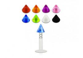 Piercing labret bioflex interne cone acrylique