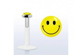 Piercing labret argent massif 925 Smile