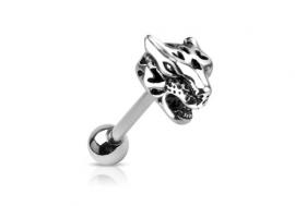 Piercing langue jaguar