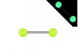 Piercing barbell phosphorescent vert