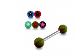 Piercing barbell acrylique etoile