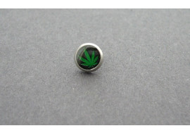 Piercing microdermal feuille verte