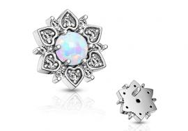 Piercing dermal fleur opale