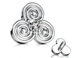 Piercing microdermal triskel