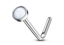 Piercing Nez pierre époxy blanche 2.5mm