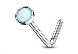 Piercing Nez pierre époxy bleue 2.5mm