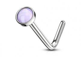 Piercing Nez pierre époxy violette 2.5mm