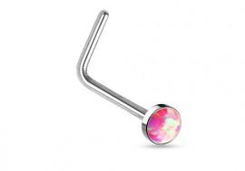 Piercing nez L opale sertie rose