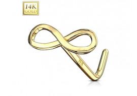 Piercing nez or jaune 14 carats Infinity