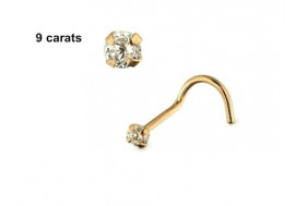 Piercing nez or 9 carats 2,5mm