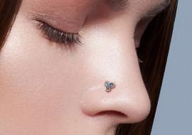 Piercing nez L triskel blanc