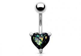 Piercing nombril coeur opalite essence