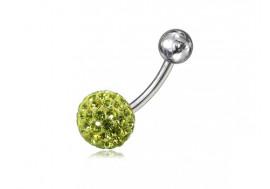 Piercing nombril swarovki jaune