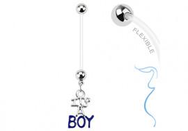 """Piercing nombril grossesse """" c'est un garçon"""""""