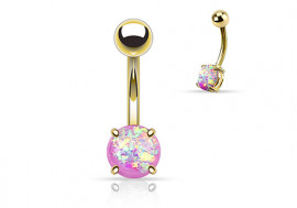 Piercing nombril opale brillante violette