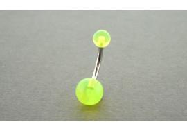 Piercing nombril ACRYLIQUE vert transparent
