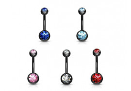 Piercing nombril blackline double pierre