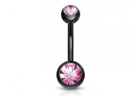 Piercing nombril blackline rose