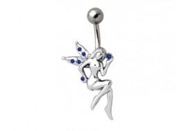 Piercing nombril fée bleue