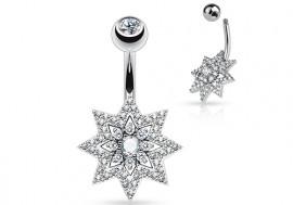 Piercing nombril étoile et strass