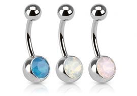 Piercing nombril basique Opale