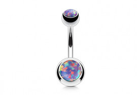 Piercing nombril opale violette