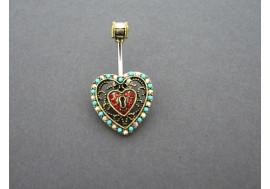 Piercing nombril coeur cadenas
