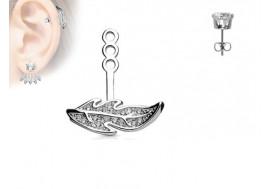 Piercing oreille Ear Cuff feuille gauche