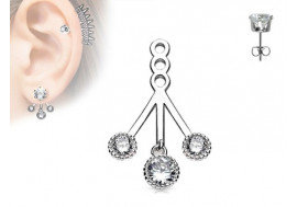 Piercing oreille Ear Cuff multi perle
