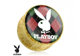 Piercing Plug bois Playboy® carreaux
