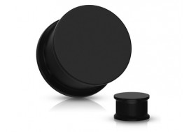 Piercing plug souple silicone noir