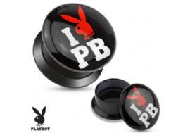 Piercing Plug acrylique lapin Playboy® bisous