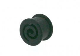 Piercing plug silicone spirale