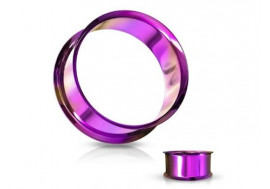 Piercing tunnel double epaule violet