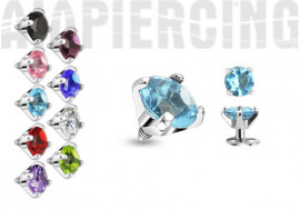 Piercing dermal strass griffé 3mm