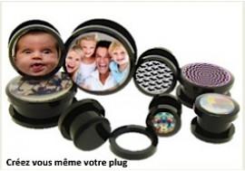Plug acrylique image personnalisable