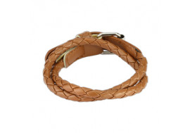 Bracelet tissé marron