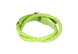 Bracelet tissé vert